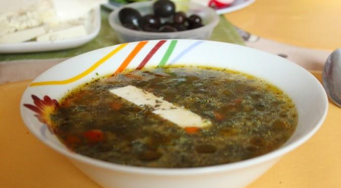 Весенний суп из крапивы по-болгарски