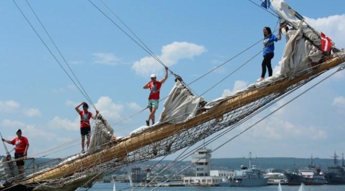 Встреча парусников «Роял Хелена» и «Калиакра» в Варне. Фотоотчёт