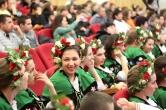 Девочки из Тырговище в аутентичных костюмах - лауреаты конкурса