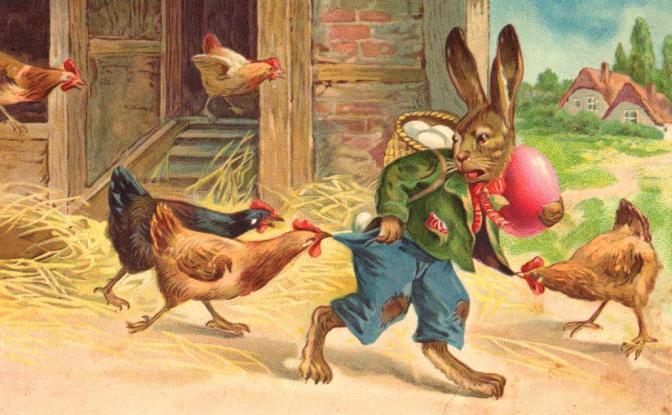Пасхальные открытки старой Болгарии