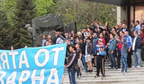 Протест фанатов Спартака