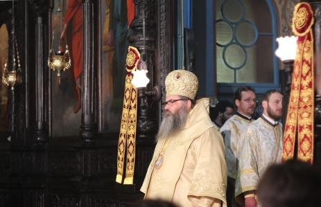 Митрополит Йоан на службе в честь  1150-летия крещения Болгарии